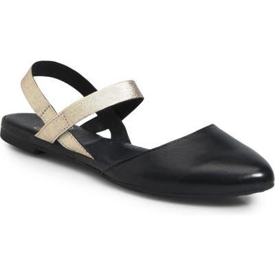 Ono Free Ankle Strap Flat- Black