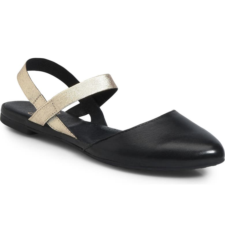 ONO Free Ankle Strap Flat, Main, color, BLACK LEATHER