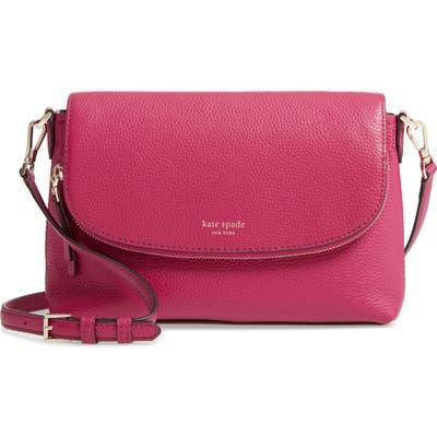 Kate Spade New York Large Polly Leather Crossbody Bag - Purple