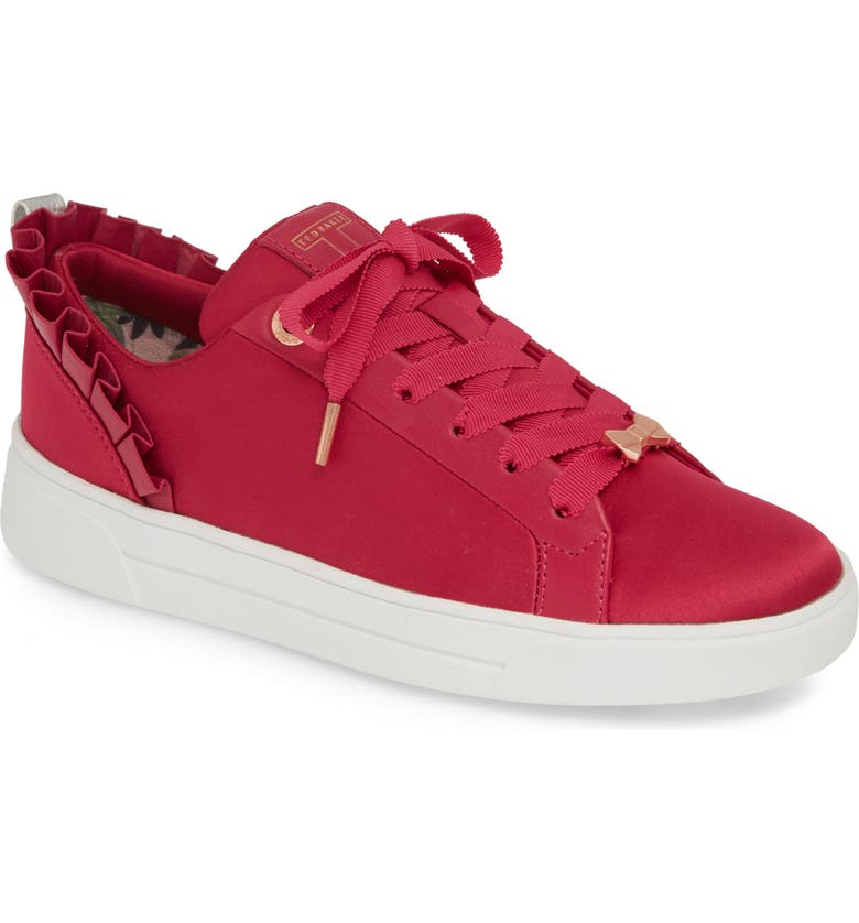 TED BAKER LONDON Astrias Sneaker, Main, color, CERISE TEXTILE