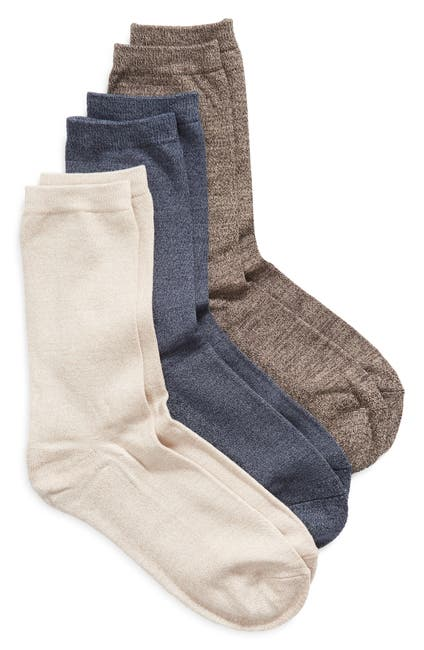 Image of Nordstrom Pillow Sole Crew Socks - Pack of 3