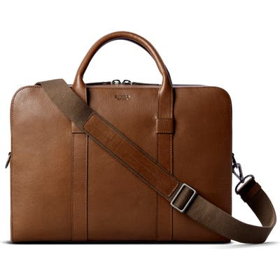 Shinola Guardian Leather Briefcase - Brown
