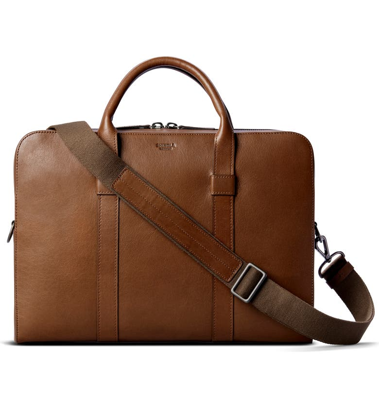 SHINOLA Guardian Leather Briefcase, Main, color, WHISKEY