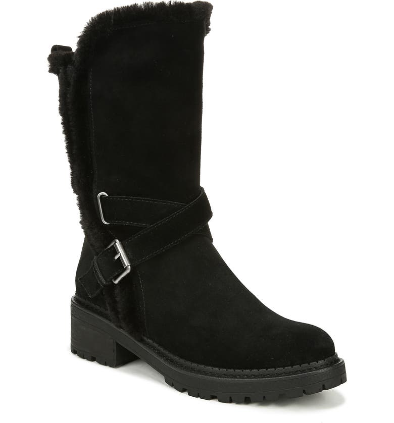 SAM EDELMAN Jailyn Faux Fur Lined Boot, Main, color, BLACK SUEDE