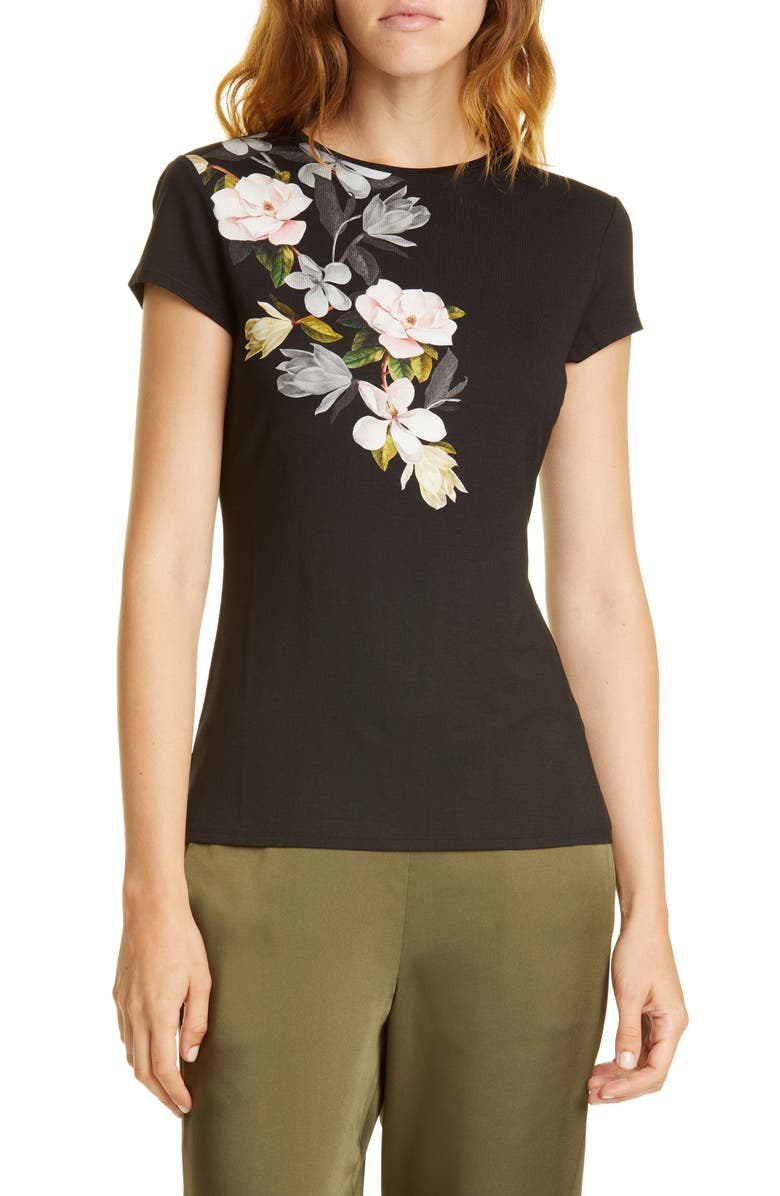 Torina Opal Floral Graphic Tee by Ted Baker London