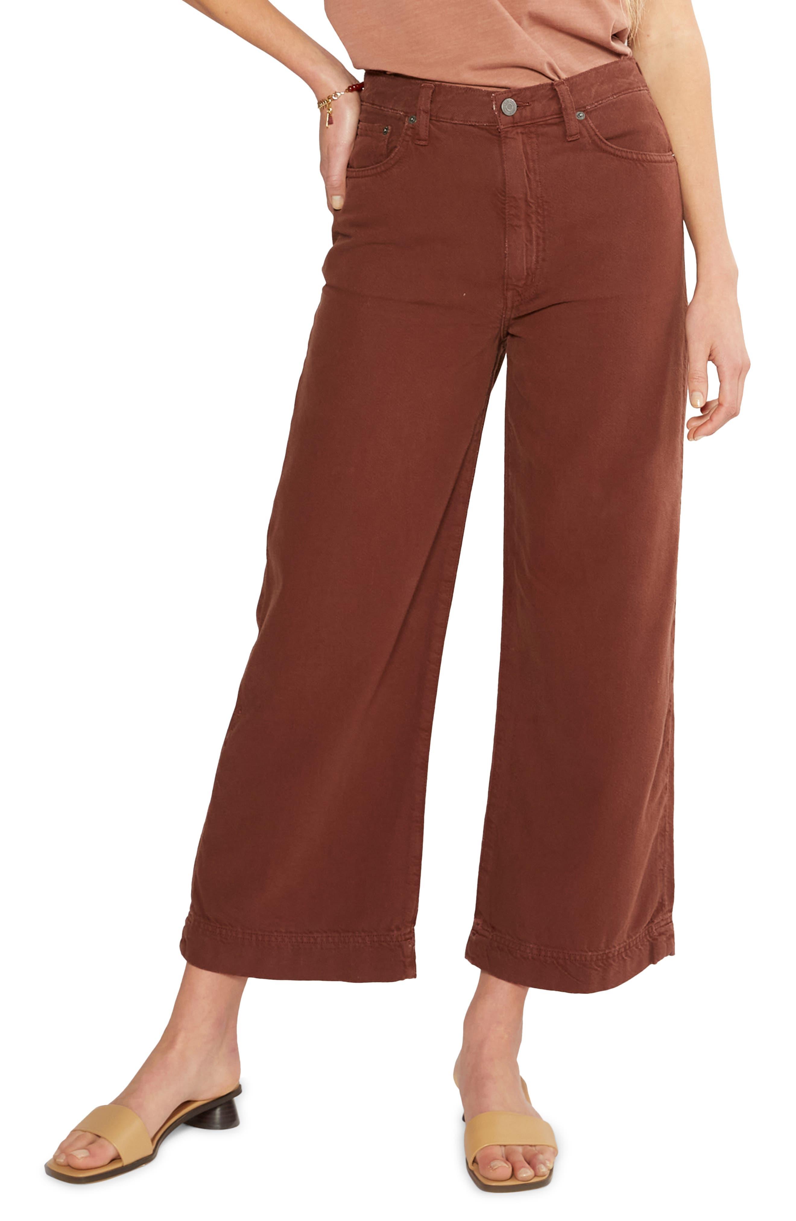 Women's Etica Devon Wide Leg Organic Cotton Blend Twill Trousers