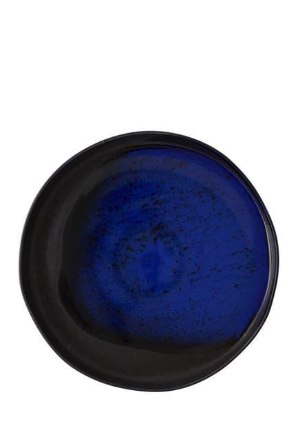 Image of Casa Alegre Noir Large Round Platter - Black/Blue