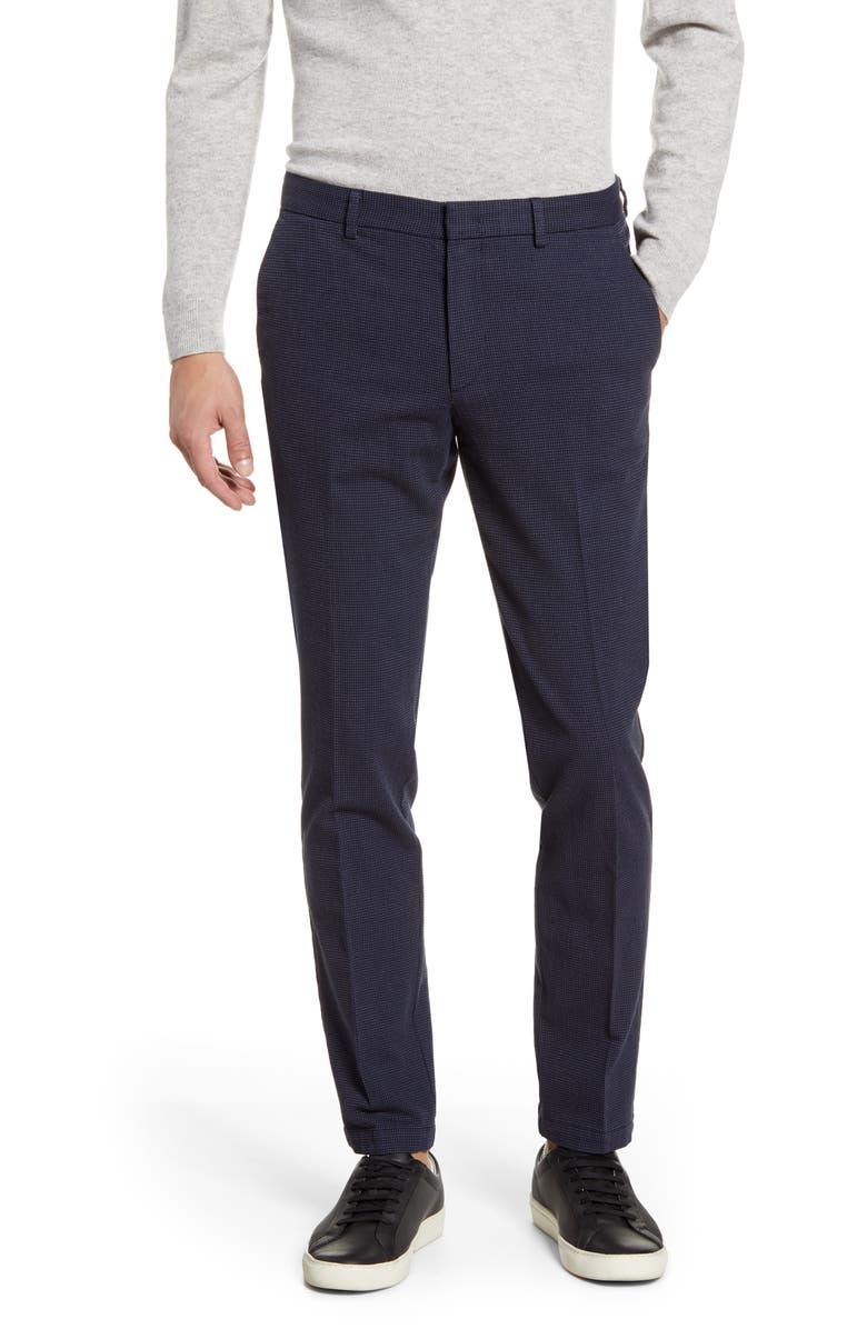 BOSS Kaito Slim Fit Dress Pants, Main, color, NAVY