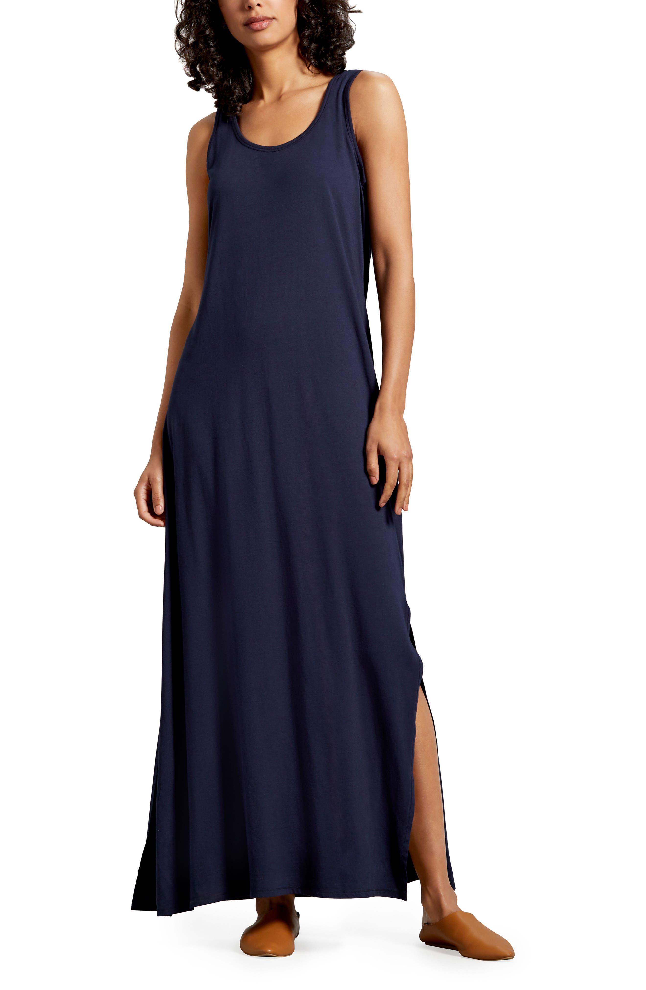 Michael Stars Isabelle Cotton & Modal Maxi Dress, Blue