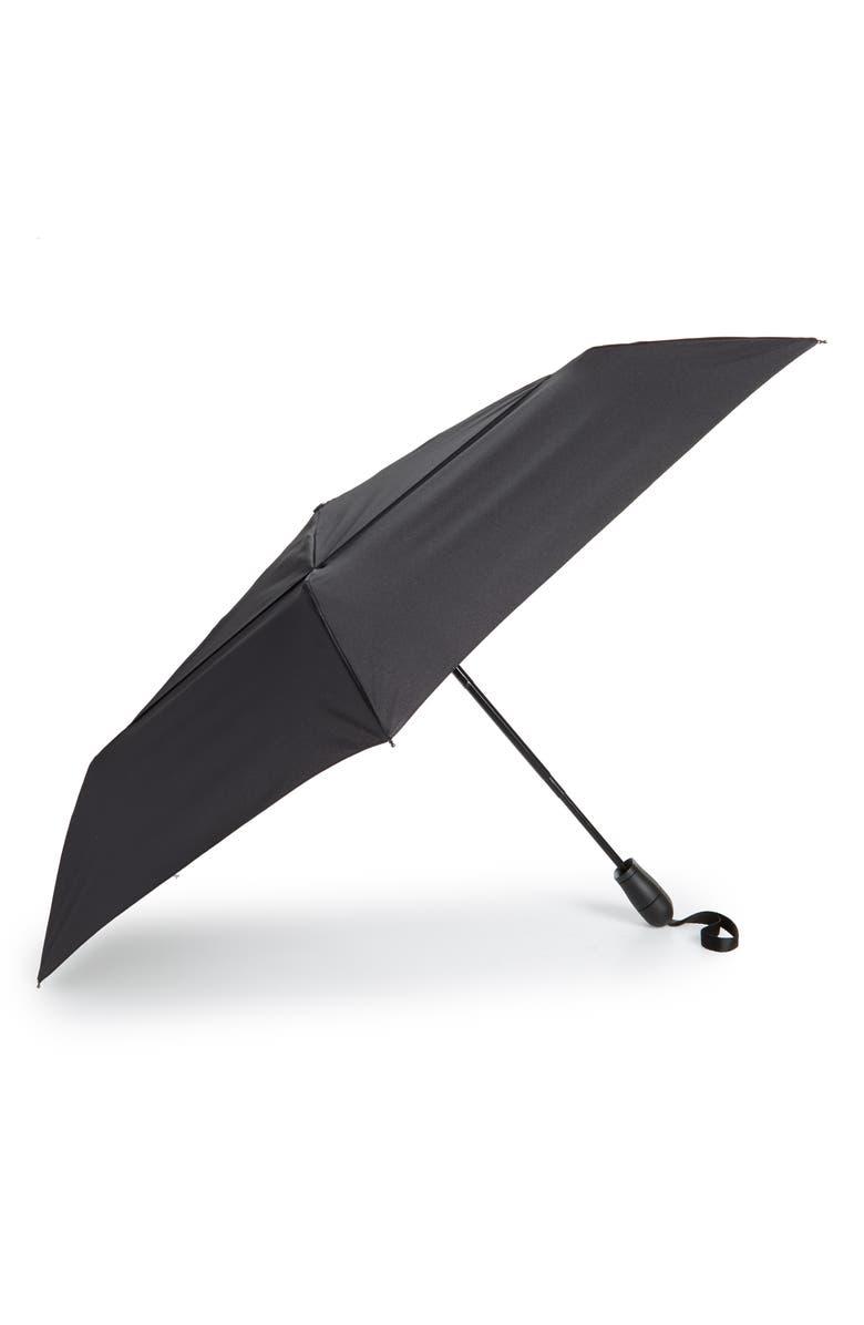 SHEDRAIN 'WindPro<sup>®</sup>' Auto Open & Close Umbrella, Main, color, NORD BLACK