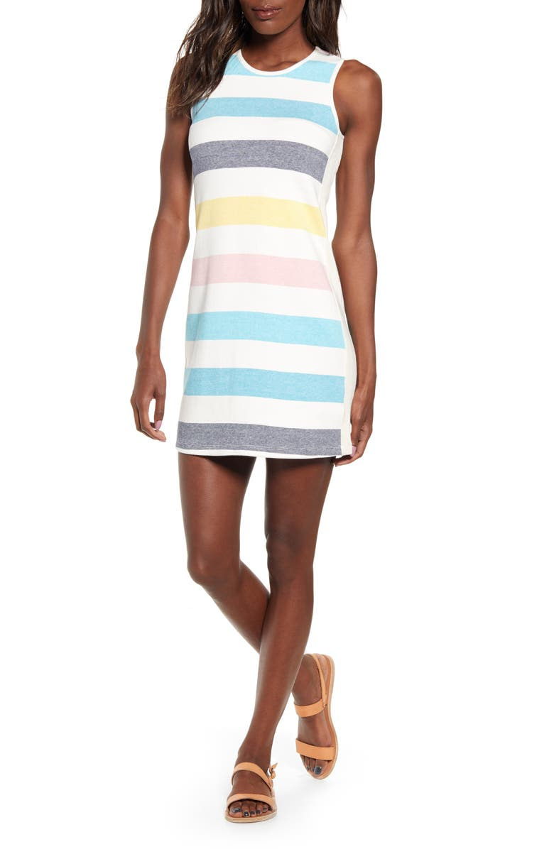 SPLENDID Stripe Stretch Cotton Tank Dress, Main, color, 650