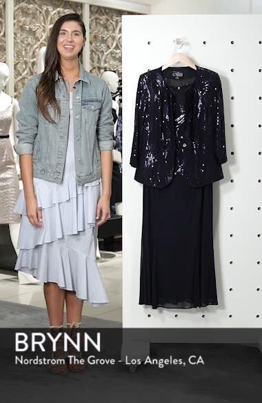 Sequin Mock Two-Piece Dress with Jacket, sales video thumbnail