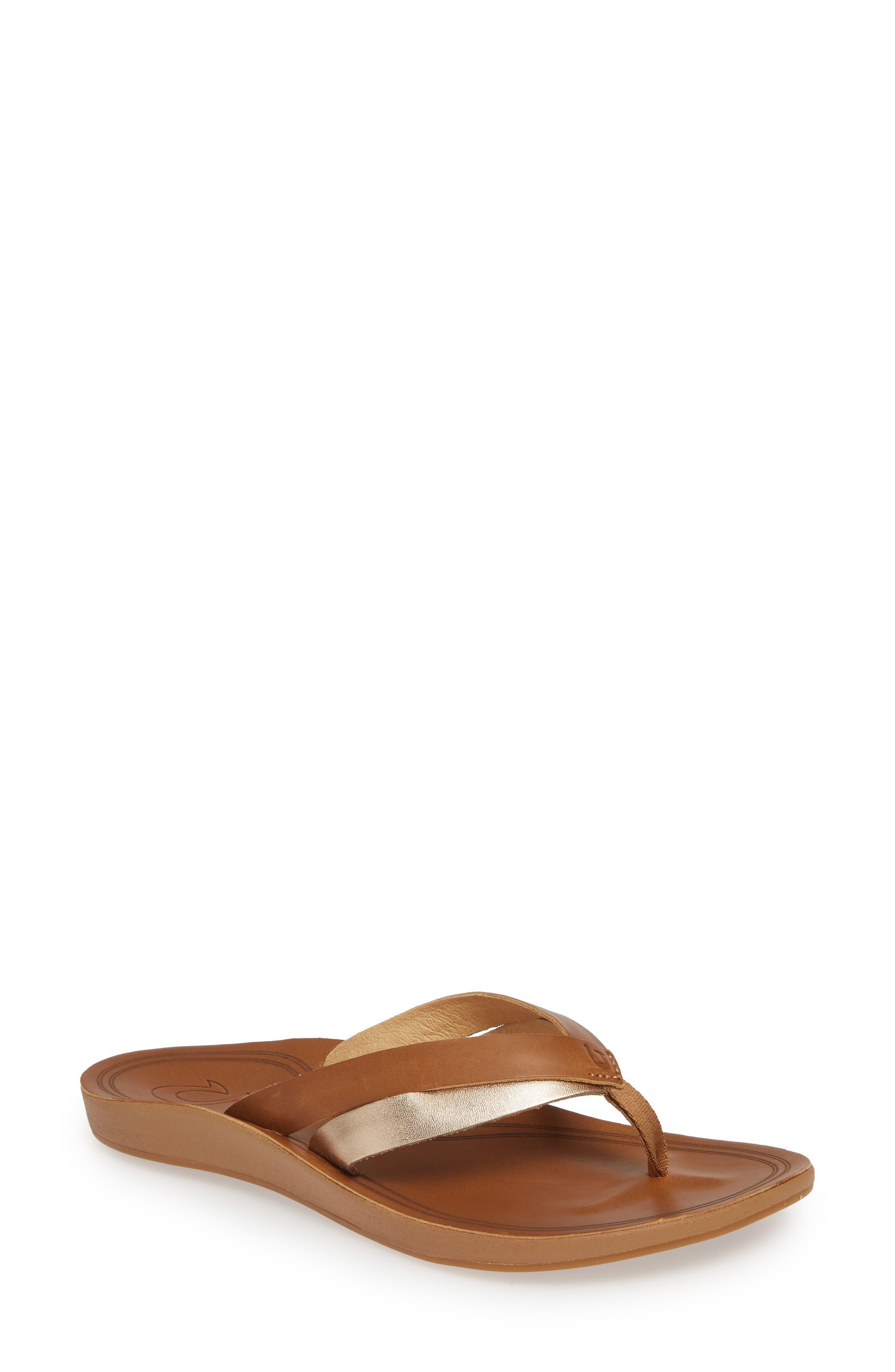 Olukai Kaekae Flip Flop, Brown