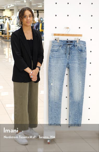 Hudson Skinny Fit Drawstring Jeans, sales video thumbnail