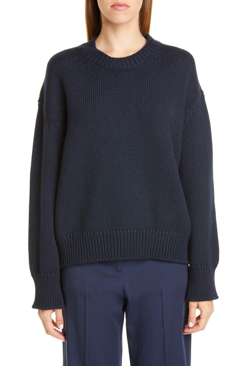 MANSUR GAVRIEL Oversize Wool Sweater, Main, color, BLUE