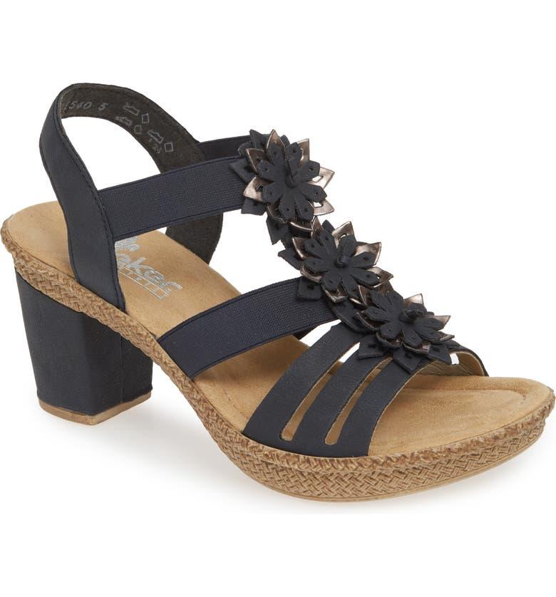 RIEKER ANTISTRESS Rabea 10 Sandal, Main, color, PACIFIC FAUX LEATHER