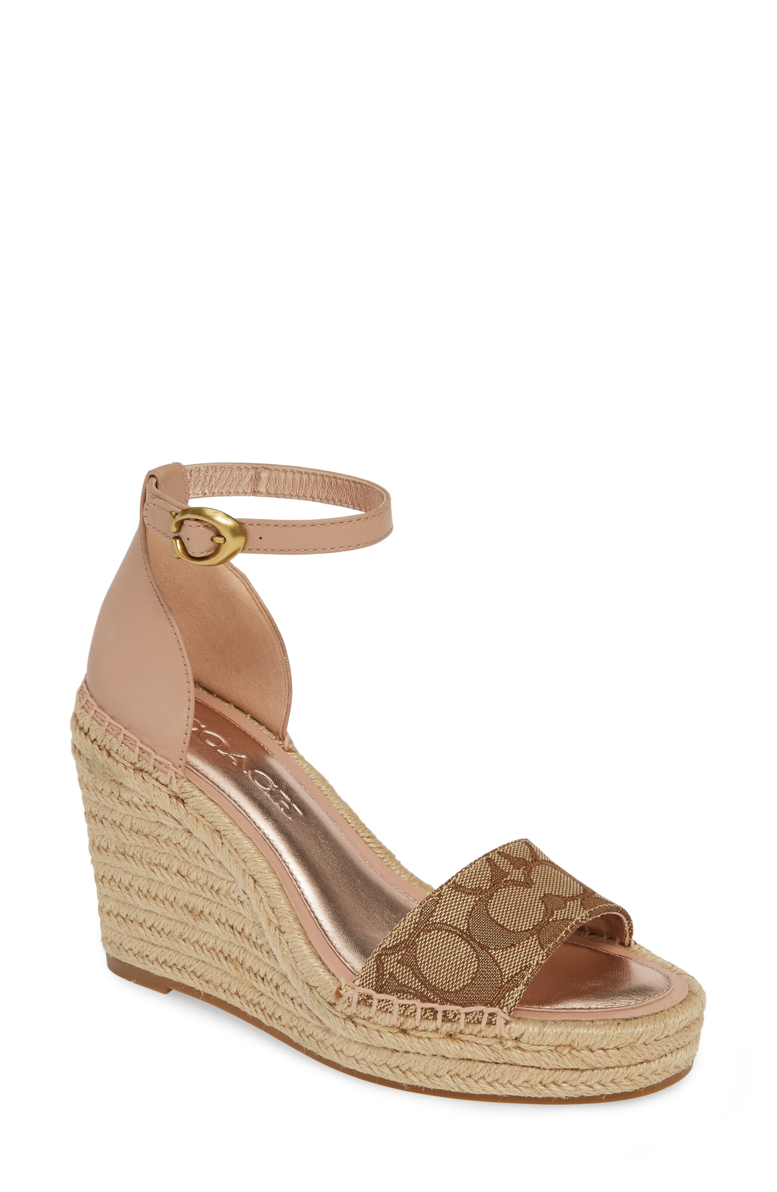 Coach Kit Espadrille Wedge Platform Sandal- Pink