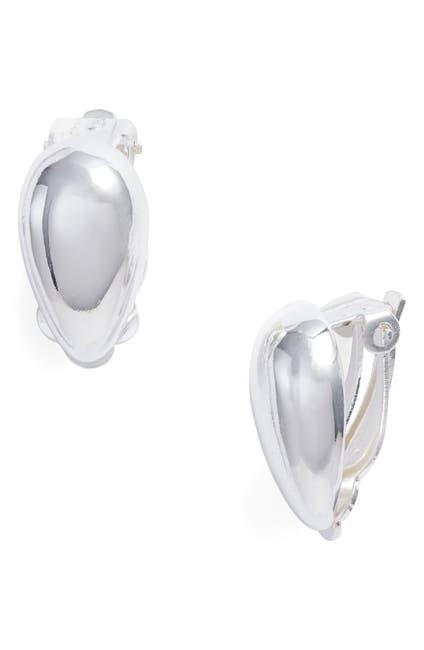 Image of Argento Vivo Sterling Silver Teardrop Clip-On Earrings