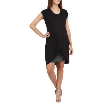 Savi Mom Lille Layered Maternity/nursing Dress, Black