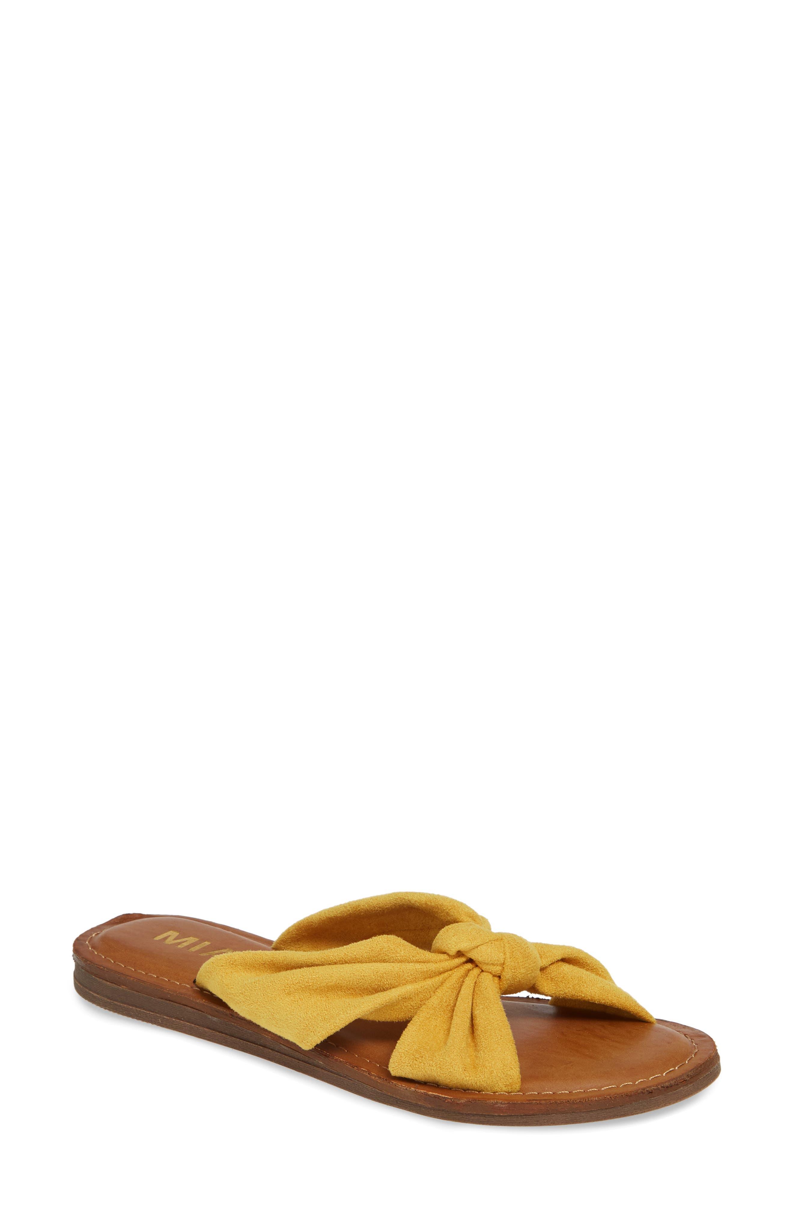 Mia Emila Slide Sandal, Yellow