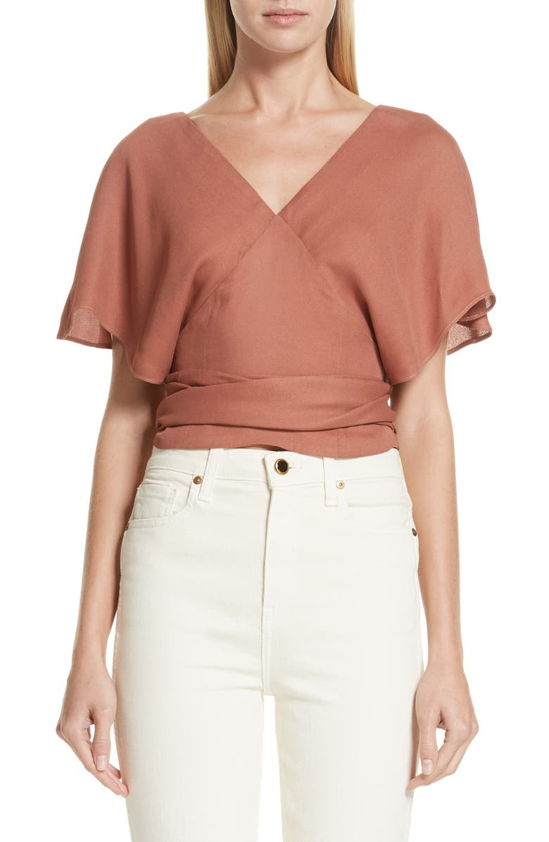 JACQUEMUS Dalil Wrap Top, Main, color, 950