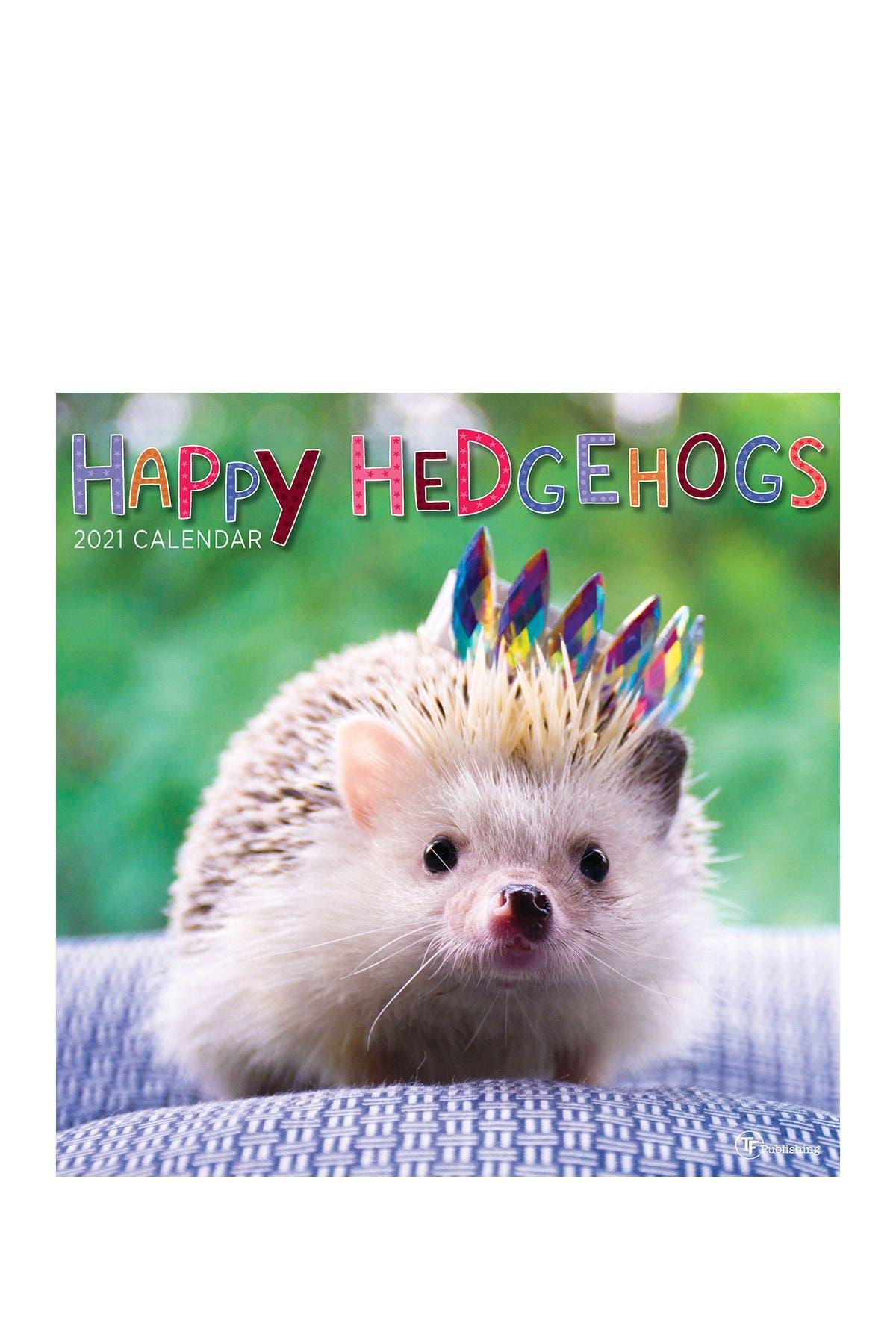 Image of TF Publishing 2021 Happy Hedgehogs Wall Calendar