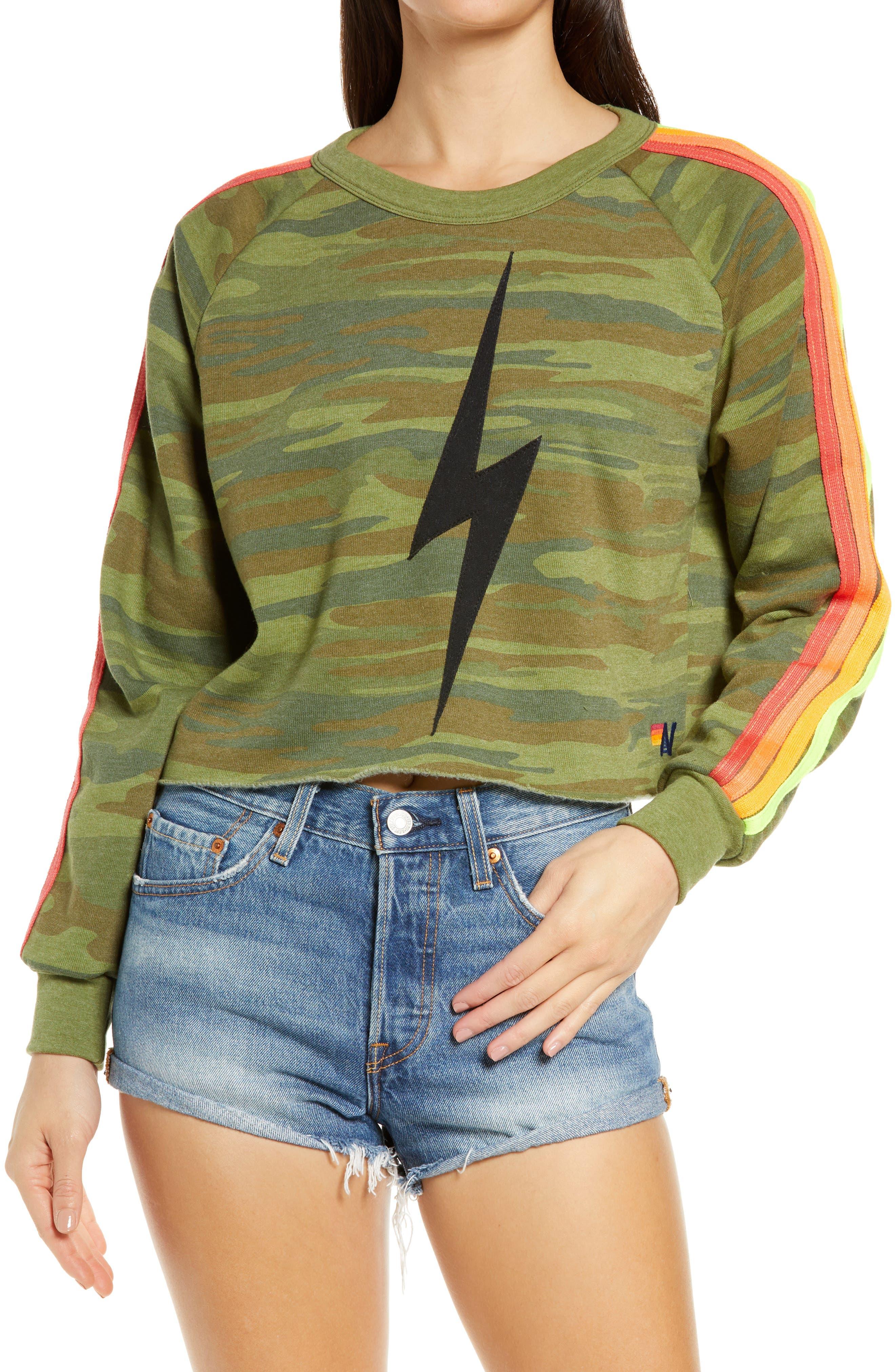 Bolt Crop Sweatshirt
