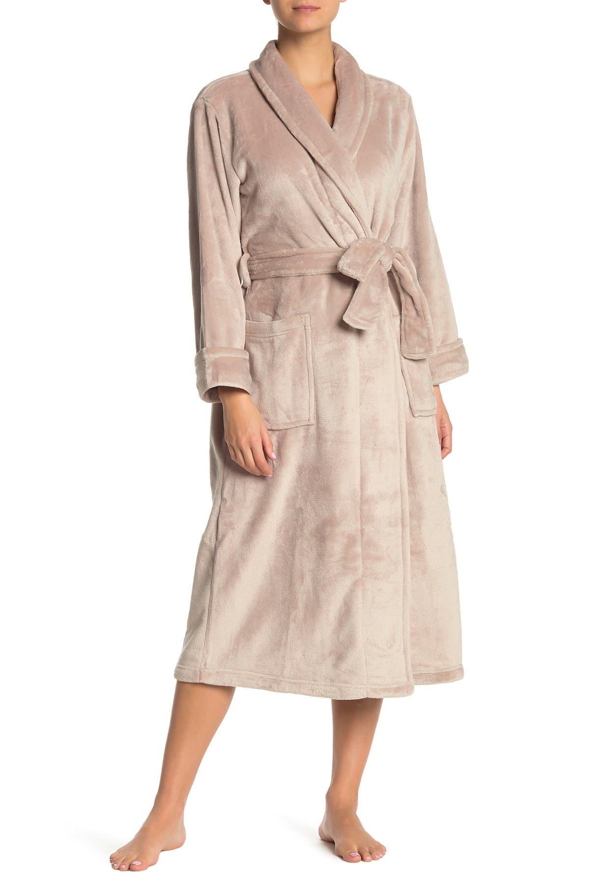 Image of N Natori Plush Fleece Shawl Collar Robe