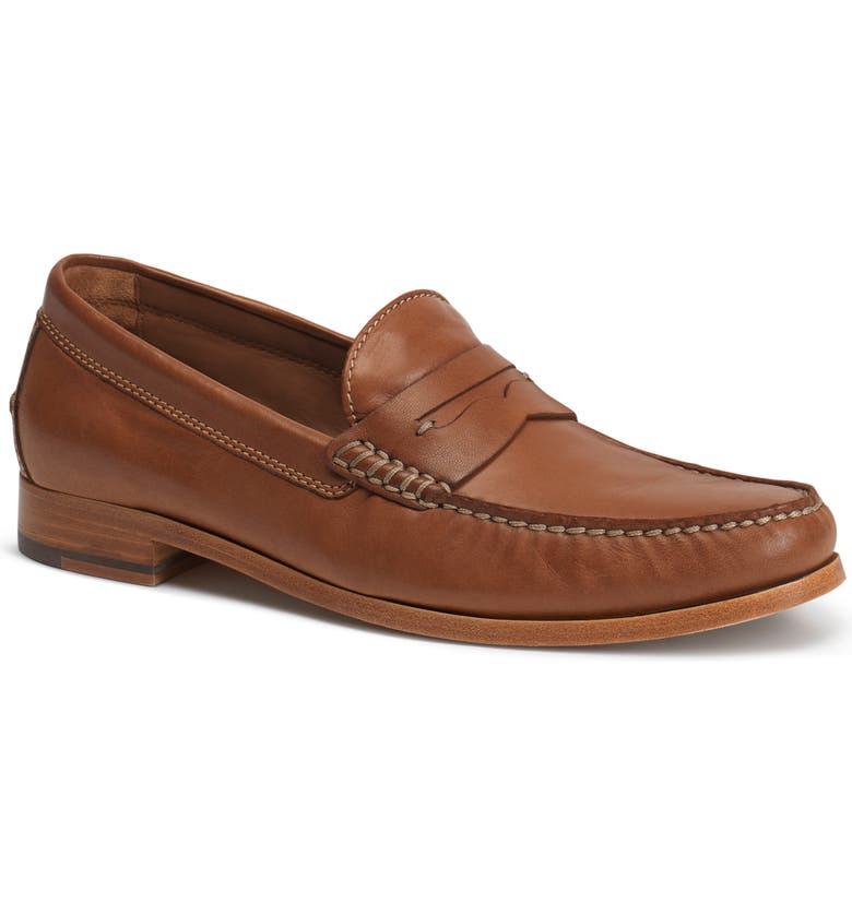 TRASK 'Sadler' Penny Loafer, Main, color, COGNAC
