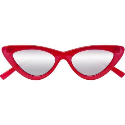 Adam Selman X Le Specs Luxe Lolita Cat Eye Sunglasses - Opaque Red
