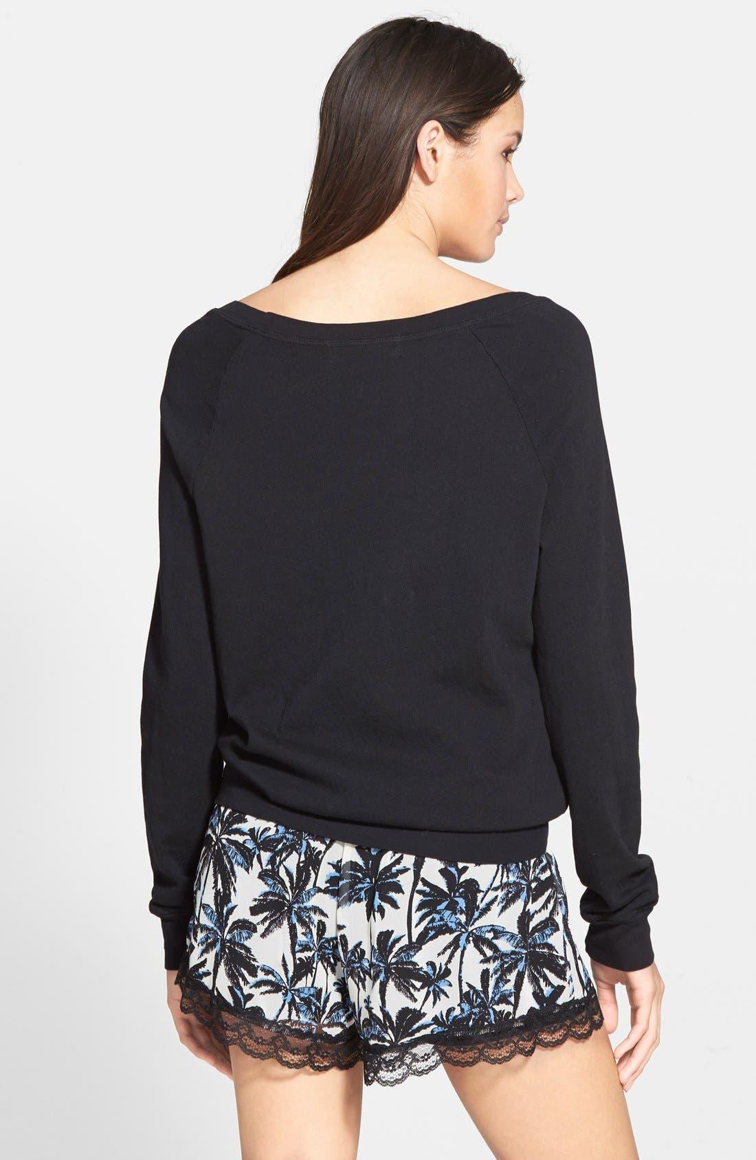 ,                             Lace Trim Floral Print Shorts,                             Alternate thumbnail 35, color,                             902