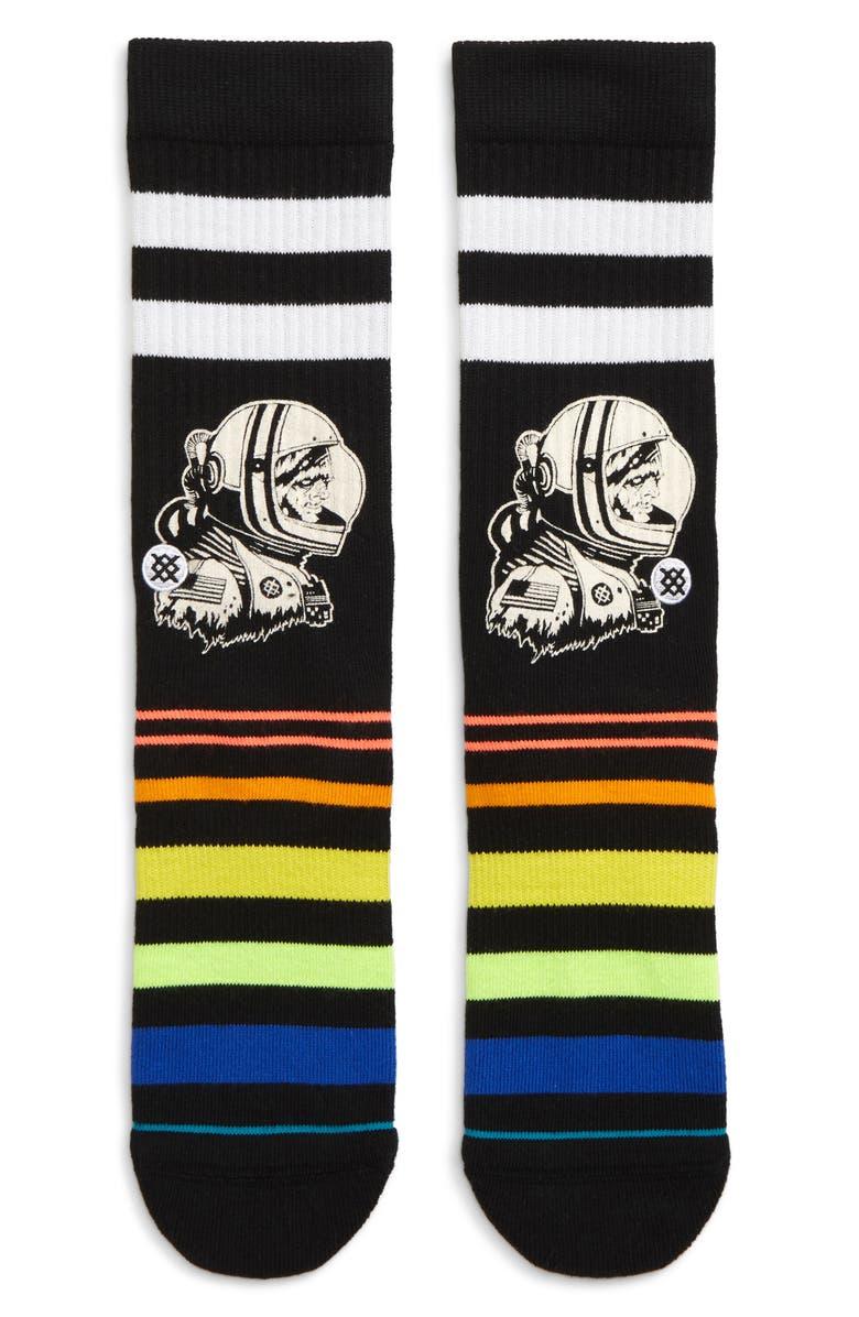 STANCE Moon Man Socks, Main, color, BLACK