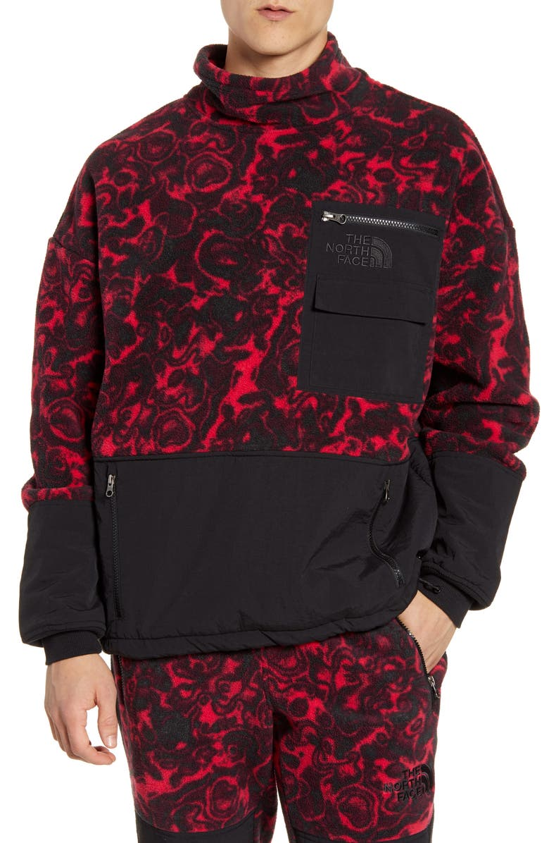 THE NORTH FACE 1994 Rage Collection Classic Fleece Pullover, Main, color, ROSE RED 1994 RAGE