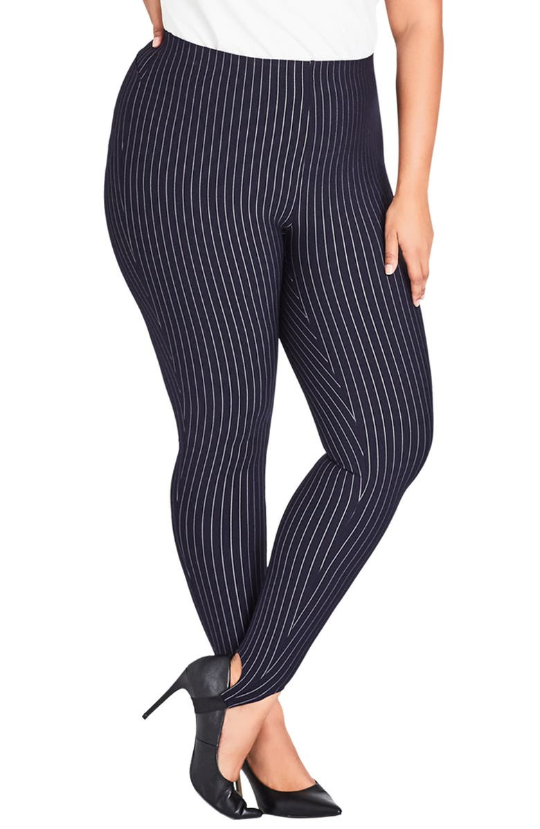 CITY CHIC Simply Tailored Stirrup Pants, Main, color, 400