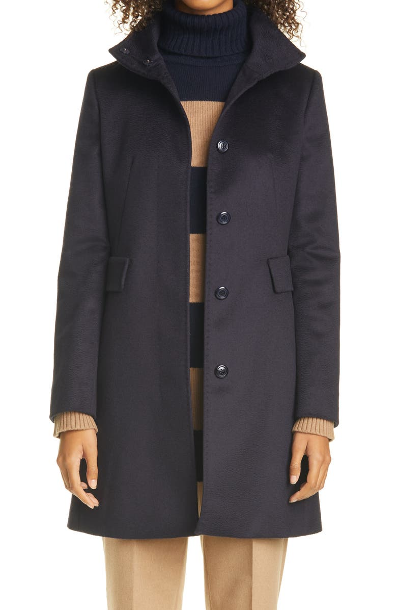 MAX MARA Agnese Wool Coat, Main, color, NAVY