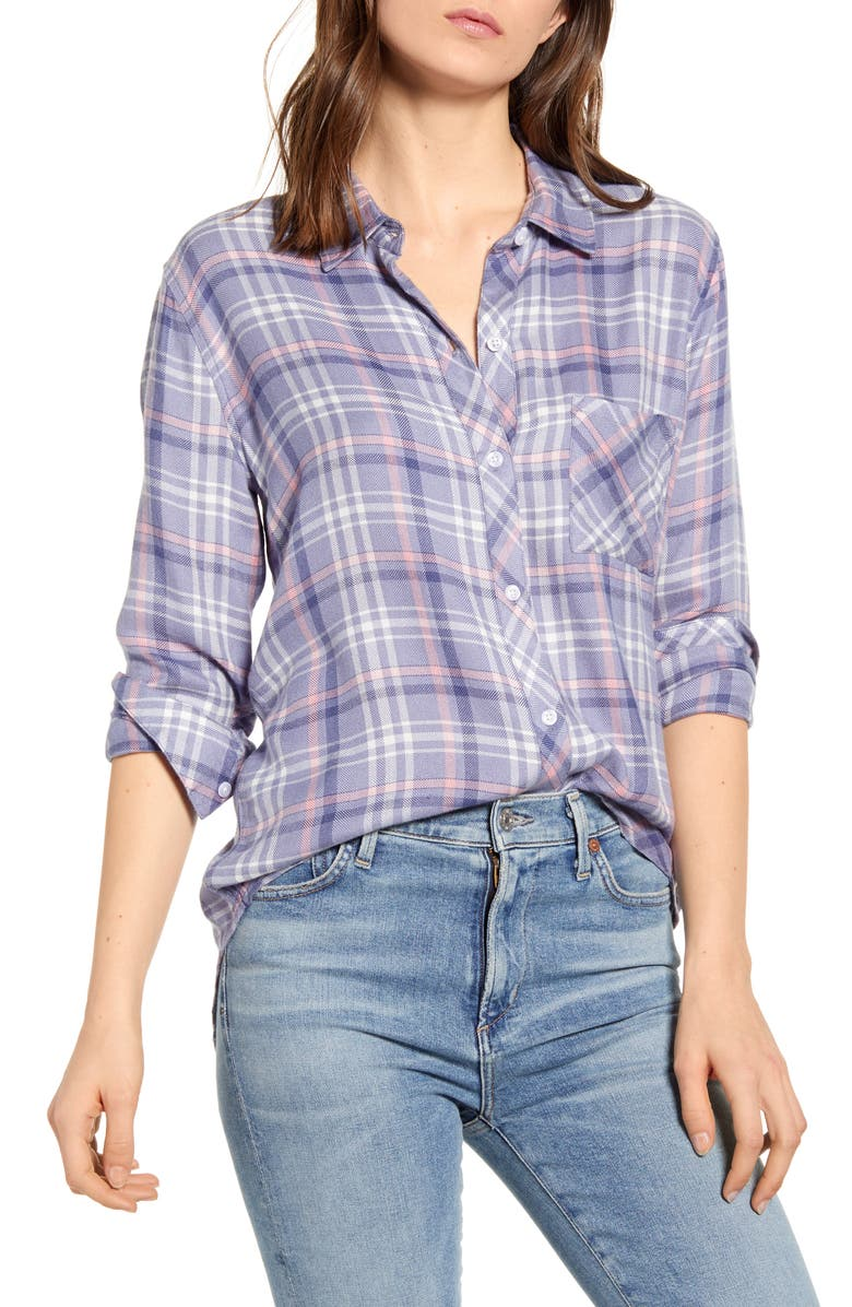 RAILS Hunter Plaid Shirt, Main, color, COAST PEONY