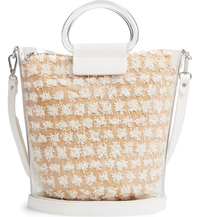 TROUVÉ Transparent Bucket Bag, Main, color, WHITE