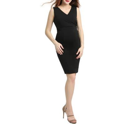 Kimi And Kai Melanie Body-Con Maternity Dress, Black