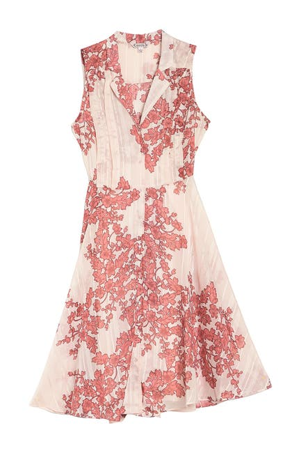 Image of NANETTE nanette lepore Floral Sleeveless Button Front A-Line Dress