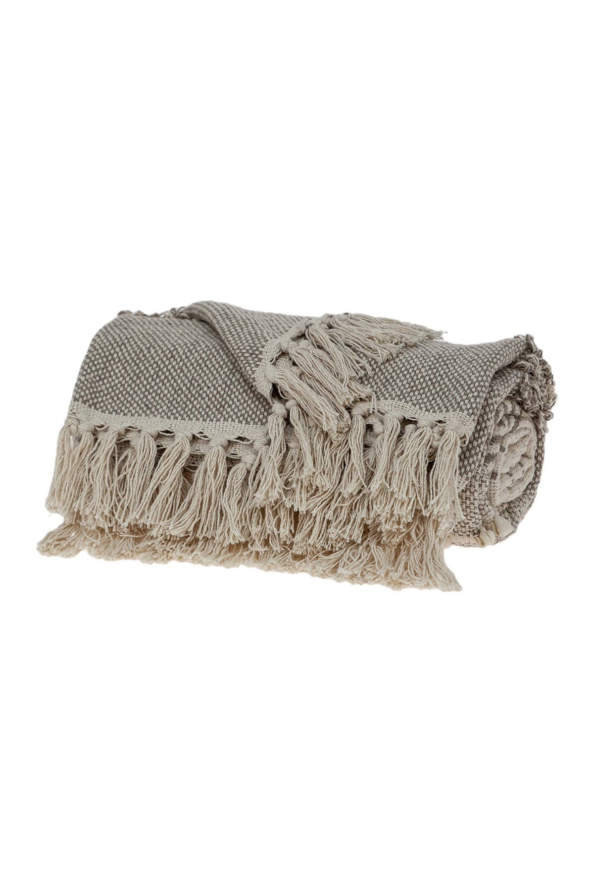 """Image of Parkland Collection Neil Eclectic Beige 52"""" x 67"""" Woven Handloom Throw"""