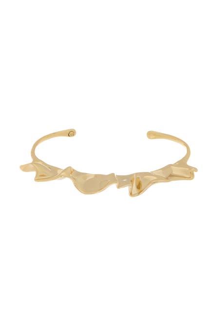 Image of Alexis Bittar Polished Metal Ruffle Cuff Bracelet