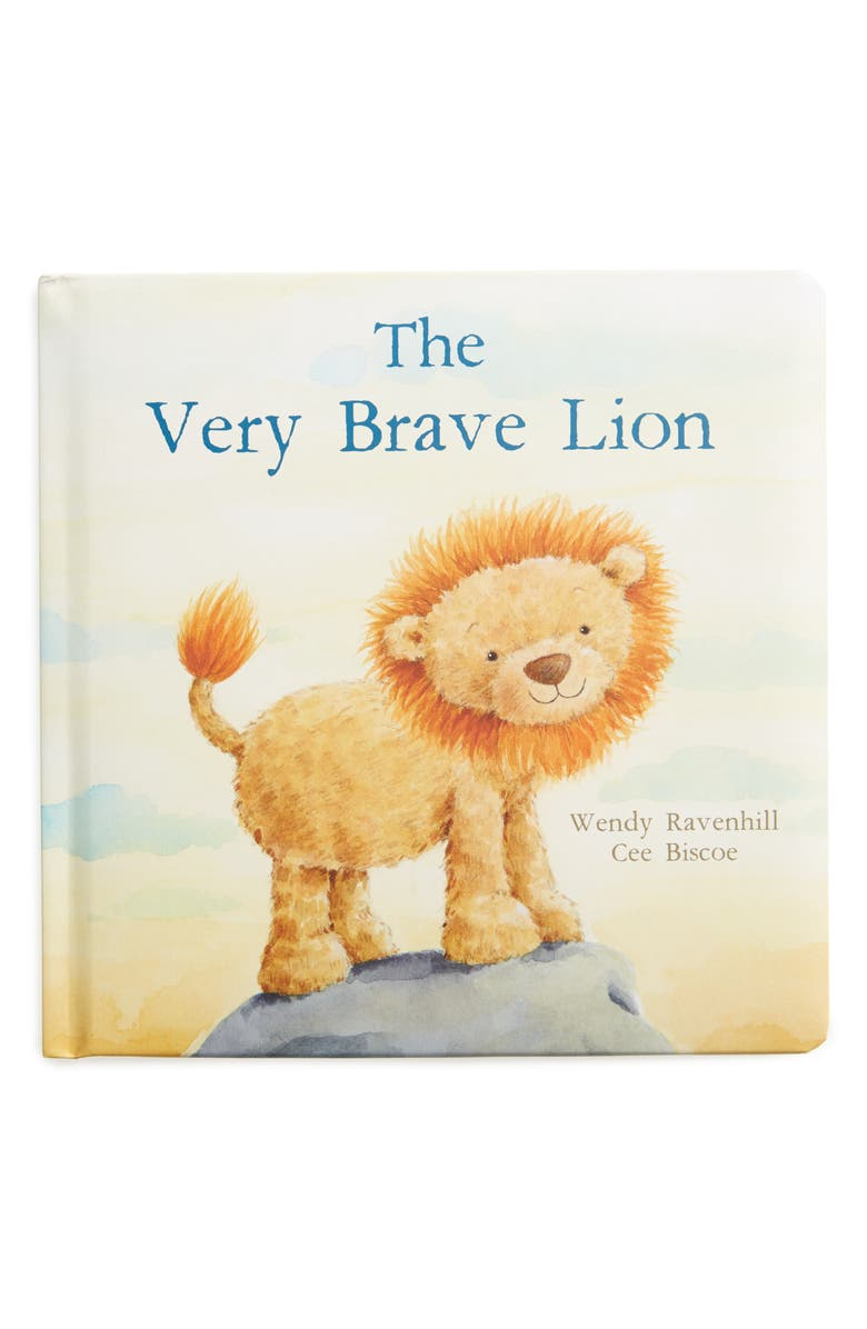 JELLYCAT 'The Very Brave Lion' Board Book, Main, color, YELLOW MULTI