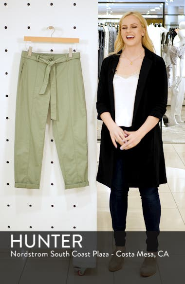 Center Seam Drawstring Stretch Cotton Pants, sales video thumbnail