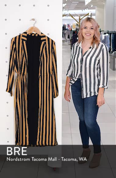 Stripe Duster Jacket, sales video thumbnail