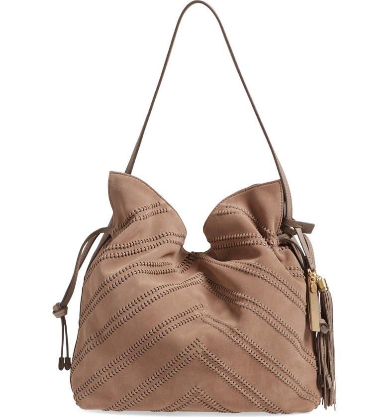 VINCE CAMUTO 'Nella' Leather Hobo Bag, Main, color, 250