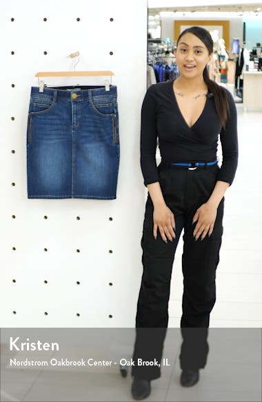 Side Zip Denim Skirt, sales video thumbnail