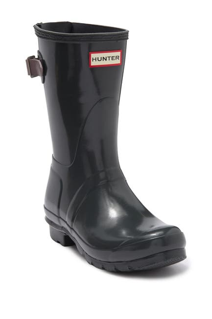 Image of Hunter Original Short Adjustable Back Gloss Waterproof Rain Boot