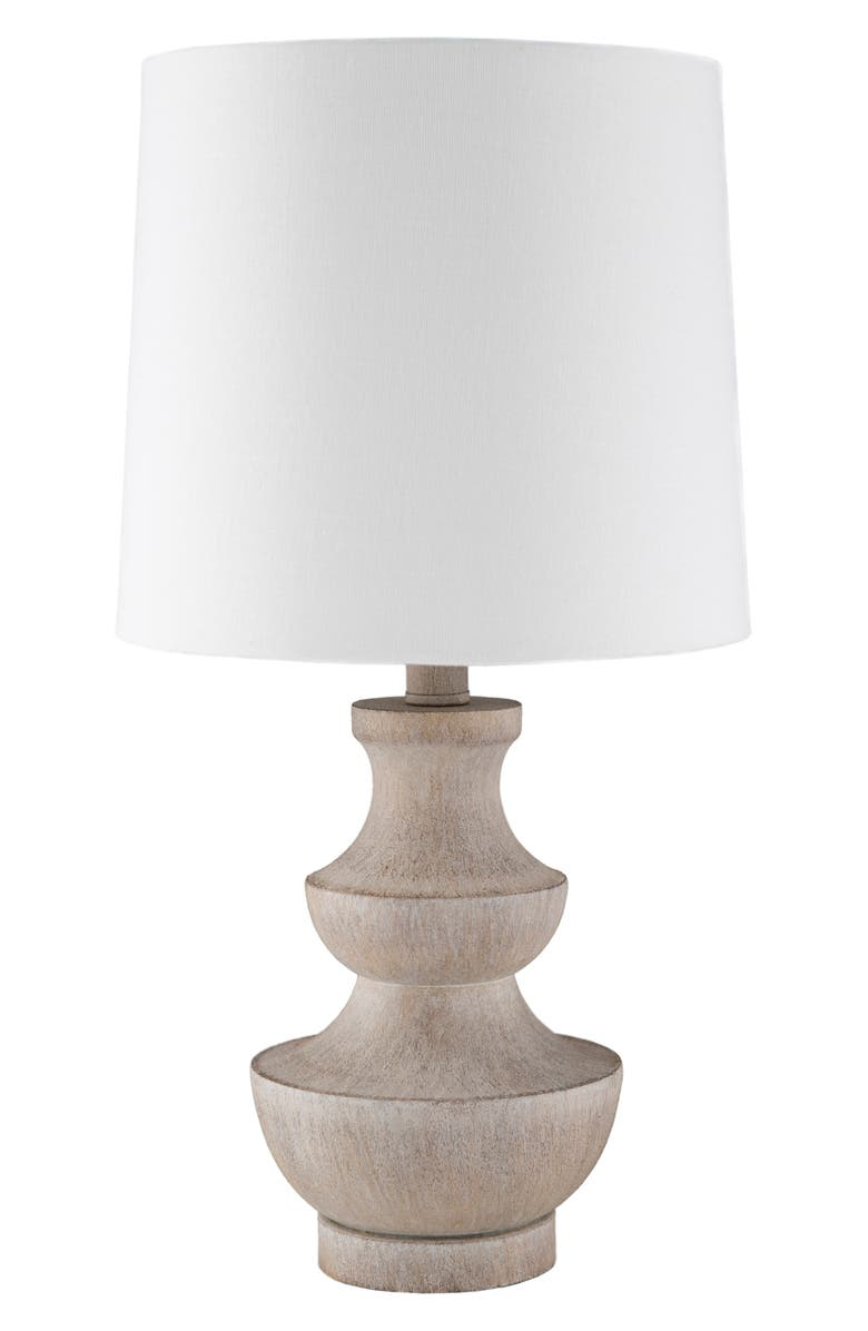 SURYA HOME Heller Table Lamp, Main, color, CAMEL/ WHITE