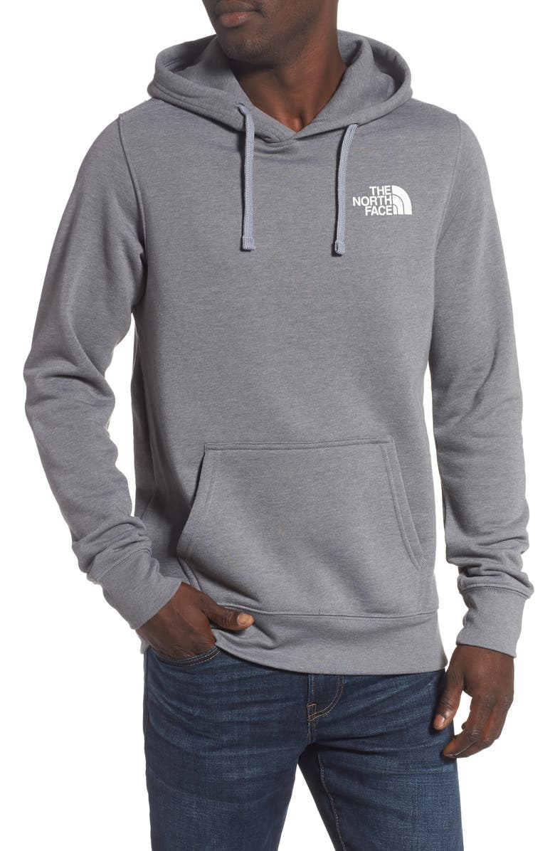 THE NORTH FACE Red Box Hoodie, Main, color, TNF MEDIUM GREY HEATHER/ RED
