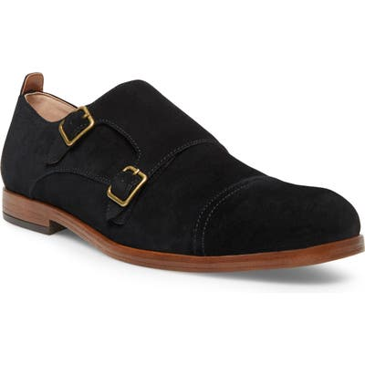 Steve Madden Brentt Double Monk Strap Shoe, Black